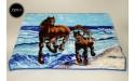 Koc Elway 160x210 - konie na niebieskim 730-1