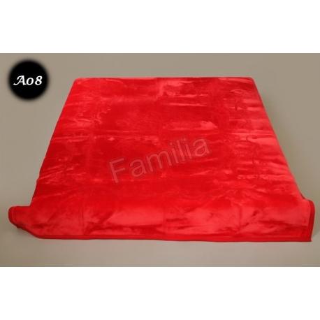 Koc Elway 160x210 - czerwony wytłaczany A08
