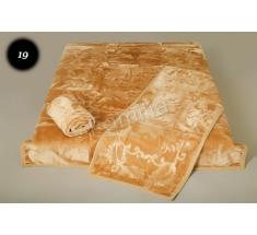 Komplet narzut na łóżko i dwa fotele Elway - miodowy tłoczony 19
