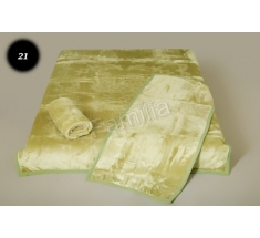 Komplet narzut na łóżko i dwa fotele Elway - oliwka tłoczony 21