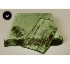 Komplet narzut na łóżko i dwa fotele Elway - zielony tłoczony 43