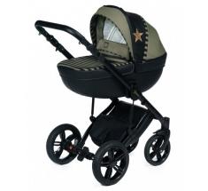 Wózek Dada Paradiso STARS KHAKI - 3w1 (gondola + spacerówka + fotelik z adapterem) - wysyłka 24h