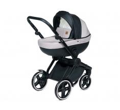 Wózek Dada Paradiso COMPASS BLACK - 4w1 (gondola + spacerówka + fotelik samochodowy + baza)