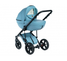 Wózek Dada Paradiso Max 500 OCEAN BLUE - 3w1 (gondola + spacerówka + fotelik z adapterem)