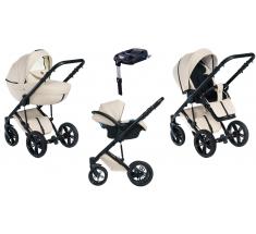 Wózek Dada Paradiso Max 500 ALMOND MILK - 4w1 (gondola + spacerówka + fotelik samochodowy + baza)