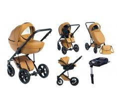 Wózek Dada Paradiso Max 500 CARAMEL - 4w1 (gondola + spacerówka + fotelik samochodowy + baza)