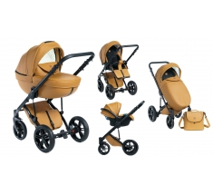 Wózek Dada Paradiso Max 500 CARAMEL - 3w1 (gondola + spacerówka + fotelik z adapterem)