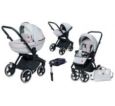 Wózek Dada Paradiso COMPASS GREY - 4w1 (gondola + spacerówka + fotelik samochodowy + baza)