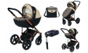 Wózek Dada Paradiso STARS GOLD - 4w1 (gondola + spacerówka + fotelik samochodowy + baza)