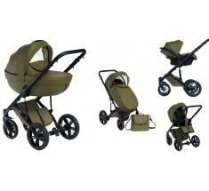 Wózek Dada Paradiso Max 500 OLIVE - 3w1 (gondola + spacerówka + fotelik z adapterem)