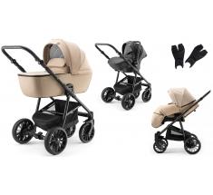 Wózek Dada Paradiso APUS Beige - 3w1 (gondola + spacerówka + fotelik samochodowy)