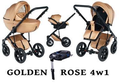 Wózek DADA PARADISO - GOLDEN ROSE 4w1