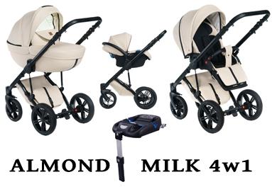 Wózek DADA PARADISO - ALMOND MILK 4w1